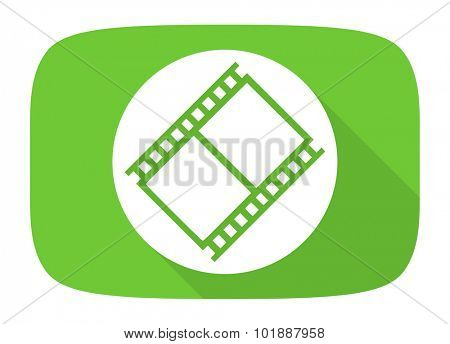 film flat design modern icon with long shadow for web and mobile app