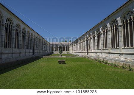Pisa, Piazza dei Miracoli  -  monumental cemetery.