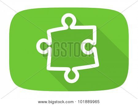 puzzle flat design modern icon with long shadow for web and mobile app