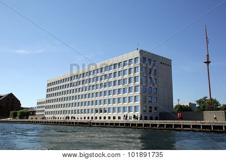 COPENHAGEN, DENMARK - SATURDAY, AUGUST 22, 2015: The headquarters of the Maersk company.  Maersk is the world's largest shipping lines.