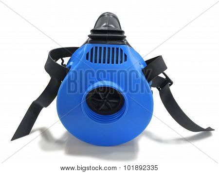 Blue Respirator With Straps