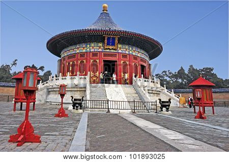 The Temple of Heaven complex in Beijing China.