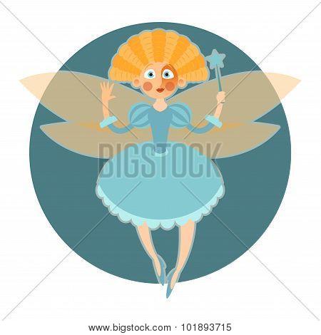 Fairy in blue dress