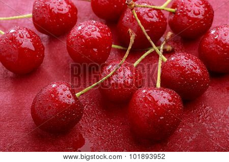 Wet Sweet Cherries