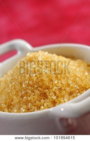 Brown Sugar Crystals In A Bowl