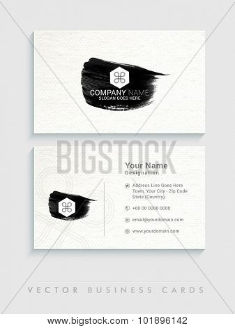Stylish horizontal business card, name card or visiting card set for your company, profession and organization.