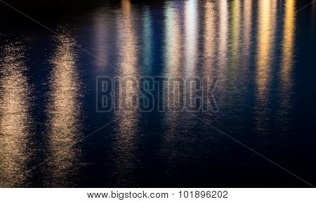 Colored Water Background From City Lights