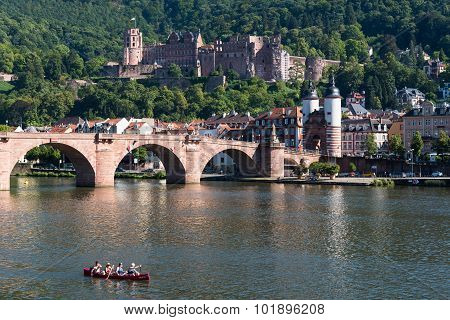 Cityscape  Of Heidelberg In Germany