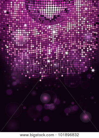 Disco Ball Pink Sparkling Background