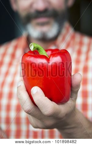 Hand With Red Pepper