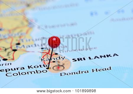 Colombo pinned on a map of Asia