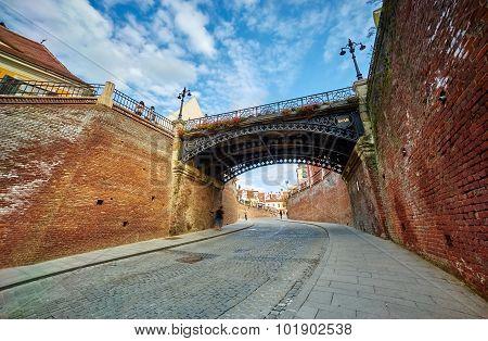 Liars Bridge In Sibiu, Romania