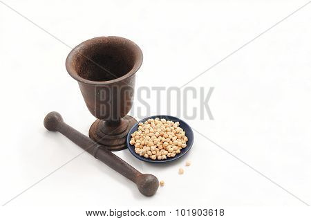 Vintage Pestle With Chick-pea
