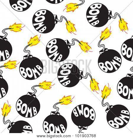 bomb seamless pattern