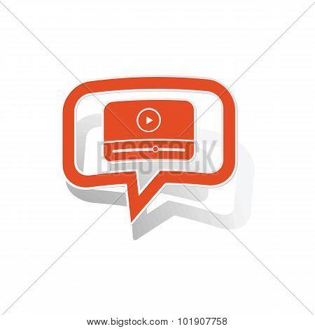 Watching message sticker, orange
