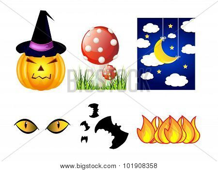 Vector Halloween Icon Set