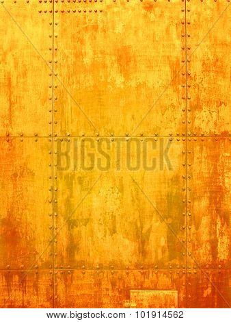 Ship texture in a rusty yellow shade