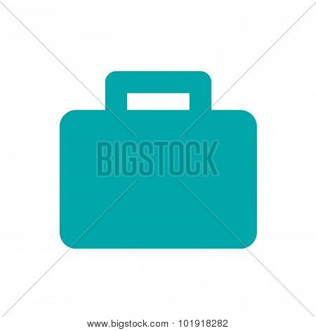Briefcase Icon, Illustration. Flat Design Style Icon