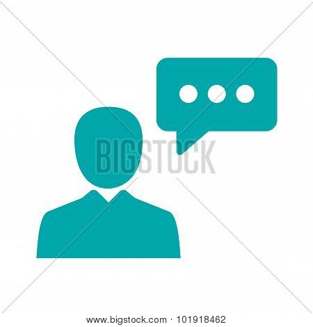 Public Speaker - Button - Public Speaker Concept Icon. Stock Illustration Flat Design Icon