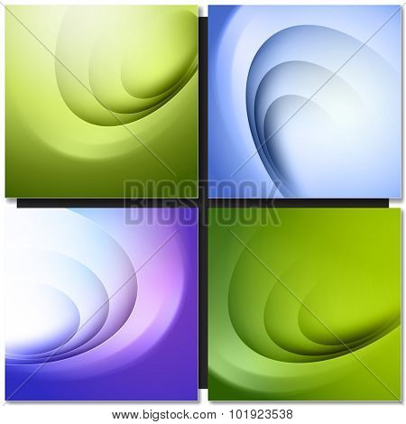 Abstract backgrounds with circle light and shadow lines