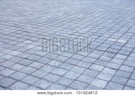 Grey city pavement in the city