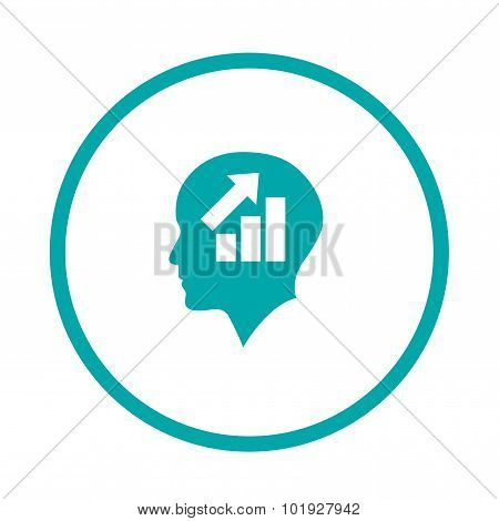 Analysis Presentation Icon. Business Man Analysing Data. Chart Icon.