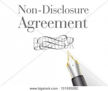 illustration of a Non-Disclosure Agreement Letter with fountain pen