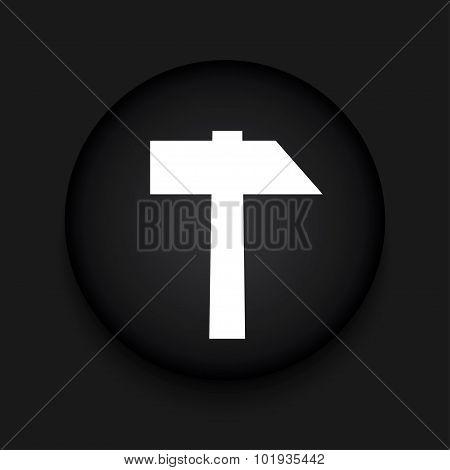 Vector modern hammer black circle icon