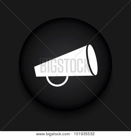 Vector modern loudspeaker black circle icon