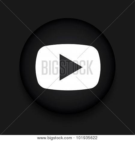 Vector modern play black circle icon