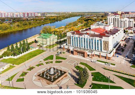 Neftyanik palace of culture. Tyumen. Russia