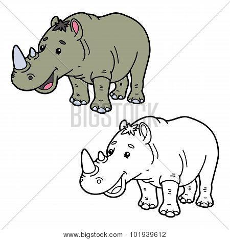 funny rhinoceros.