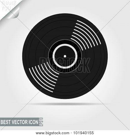 Vinyl Record icon. Vector