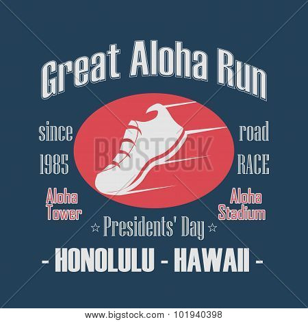 Sport Typography, Great Aloha Run