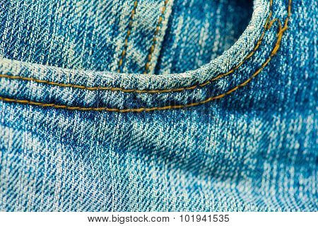 Closed up jeans texture show background concept