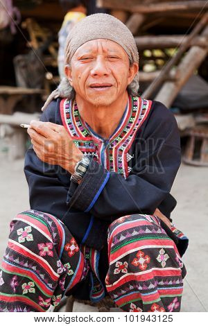 Thai Man Smoking