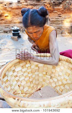 Rattan Baskets In Myanmar