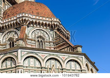 The Dome Of Florence Cathedral Close-up