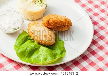 chicken cutlets with potato