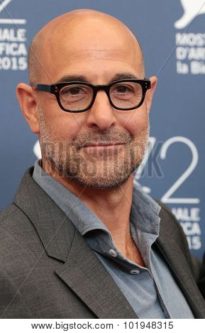 Actor Stanley Tucci  at the photocall for Sportlight  at the 2015 Venice Film Festival. September 3, 2015  Venice, Italy