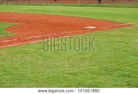Corner Of A Baseball Field