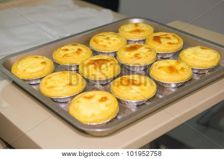 Egg Tarts Just Finish Baking