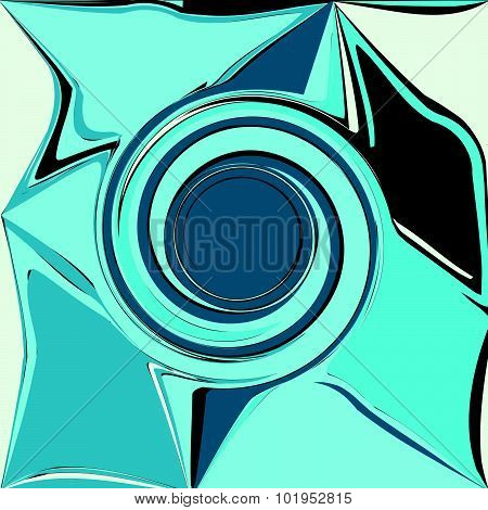 Blue Abstract Wave, Embossed Shadow Eddy, Design Element Background Vector