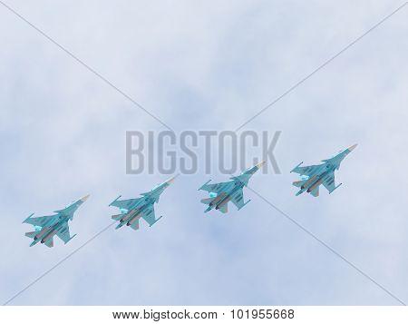 Su-34 In The Sky