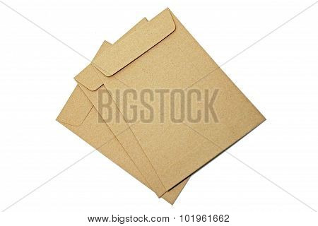 Brown Envelope isolate on white background