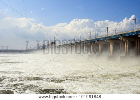 Reset of water at hydroelectric power station