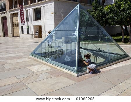 Glass Pyramid Of Malaga, Spain