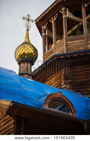 Cross On The Dome Of The Orthodox Church