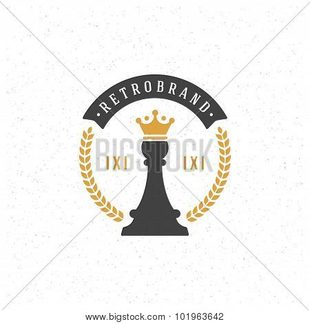Chess Design Element in Vintage Style