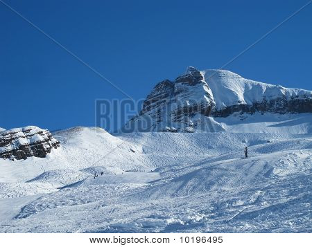 Snow Covered Mountains,and Ski Slope